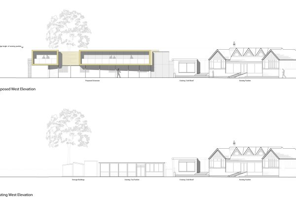 Existing and Proposed Elevations_Ormskirk Cricket Club